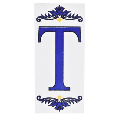 Letra T de cerámica 6,5 x 14,5 cm