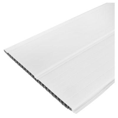 Tablilla PVC blanco liso 10 mm