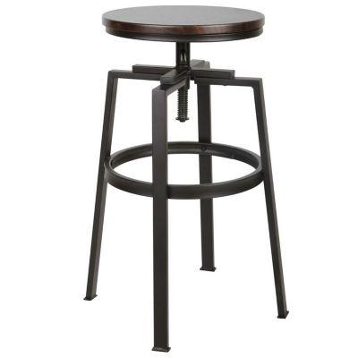Silla bar Amat altura regulable negra