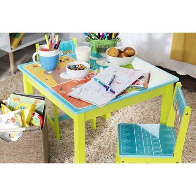 Juego de mesa y 2 sillas infantil Zoo