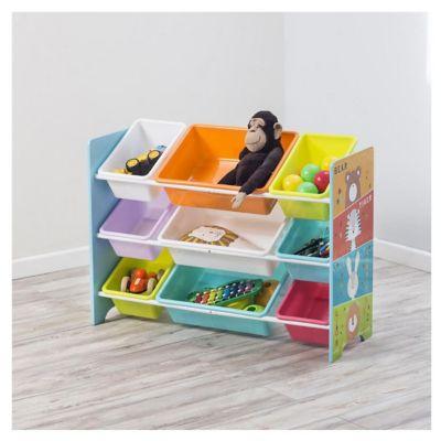 Organizador de 9 cajas Zoo 84 x 30 x 64 cm