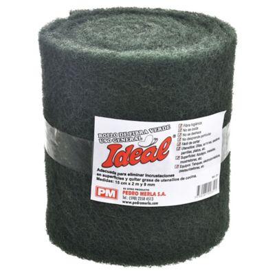Rollo de fibra verde para cocina 8 mm 15 x 200 cm