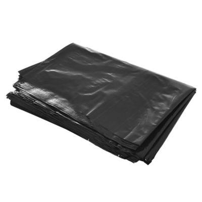 Pack de 10 bolsas de basura negra súper resistentes 48 x 60 cm