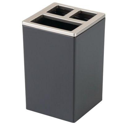 Portacepillo Clarity black