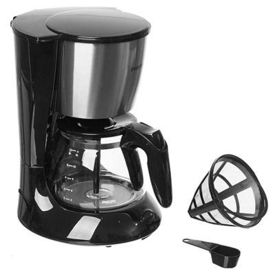 Cafetera filtro 1000 w negra y plateada 1,2 L
