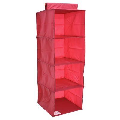 Organizador de tela 4 niveles fucsia 30 x 30 x 84 cm