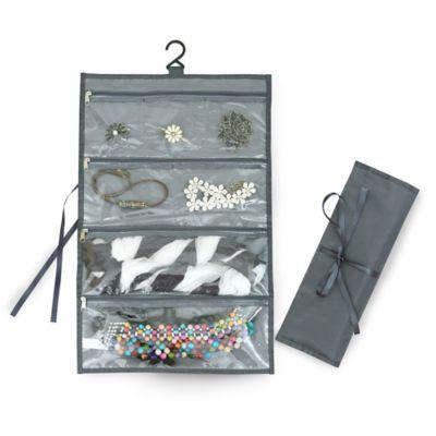 Organizador de tela para accesorios gris 30 x 48 cm