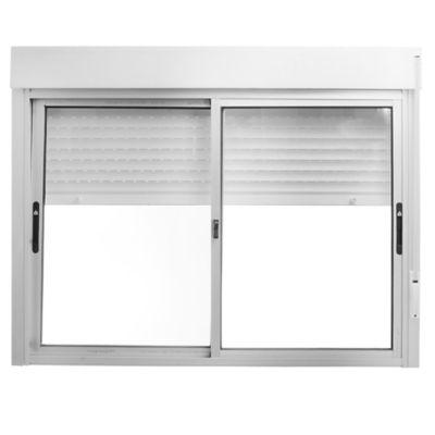 Ventana de aluminio con persiana de PVC S20 blanco 150 x 120 cm