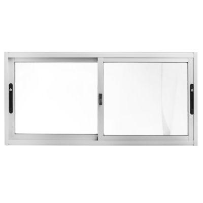 Ventana de aluminio Panorámica S20 gris 120 x 60 x 6 cm