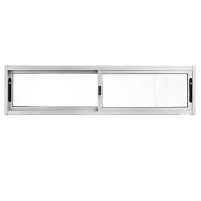 Ventana de aluminio Panorámica S20 gris 150 x 40 cm
