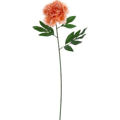 Flor artificial vara peonia melon 63 cm