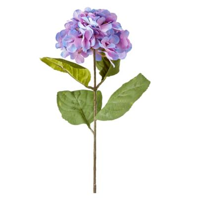 Flor artificial vara hydrangea lila 76 cm