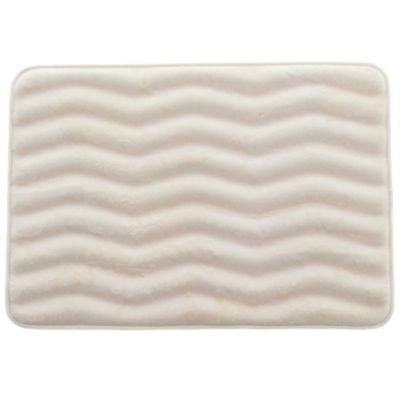 Alfombra de baño Memorex zigzag 43 x 60 cm ivory