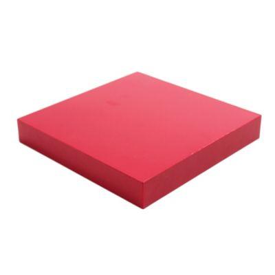 Estante de madera flotante rojo 25 x 25 x 3,8 cm