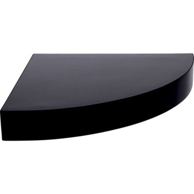 Estante de madera flotante esquinero negro 25 x 25 x 3,8 cm