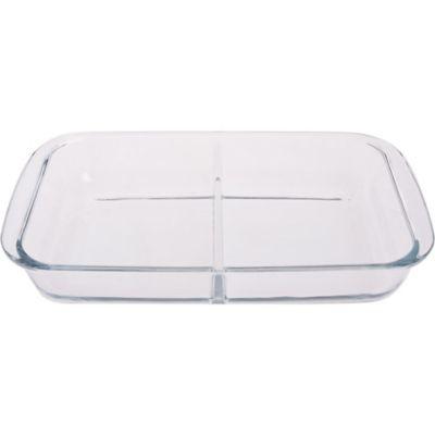 Asadera de vidrio rectangular con divisiones 1,5 L
