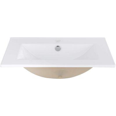 Lavatorio rectangular con mesada loza para embutir 62 x 46 x 17 cm blanco