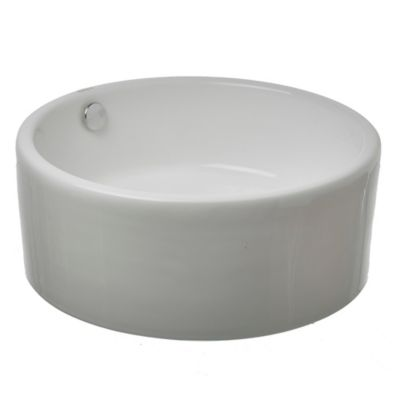 Bacha circular loza de apoyo 41.5 x 16 x cm blanco