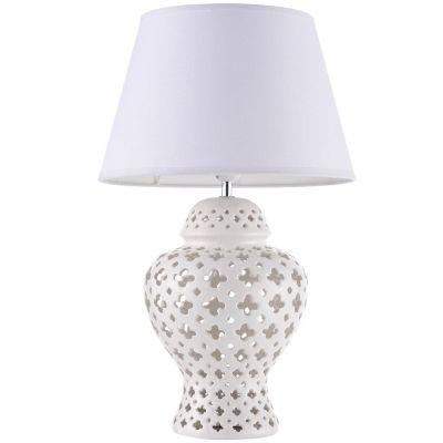 Lámpara de mesa Bodrum blanca 1 luz E27