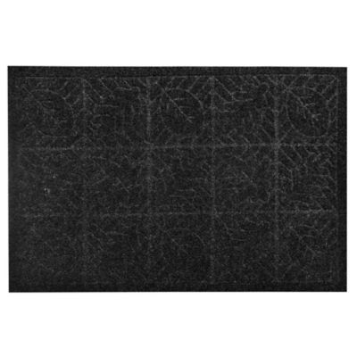 Felpudo textura hojas gris de 38 x 57 cm