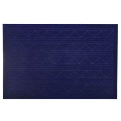 Felpudo textura azul de 38 x 57 cm