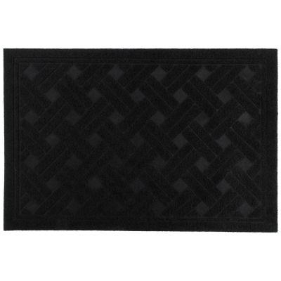 Felpudo textura negro de 38 x 57 cm