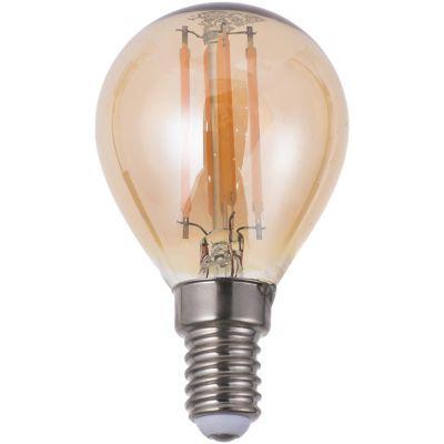 Lámpara de luz LED filamento 4 w G45 E14 ambar