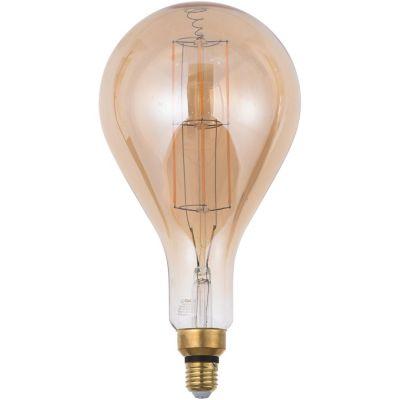 Lámpara de luz LED filamento 8 w PS160 E27 ambar