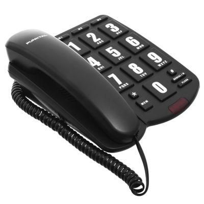 Teléfono de mesa con numeros grandes negro