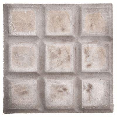 Baldosa de vereda 9 paneles gris de 20 x 20 cm