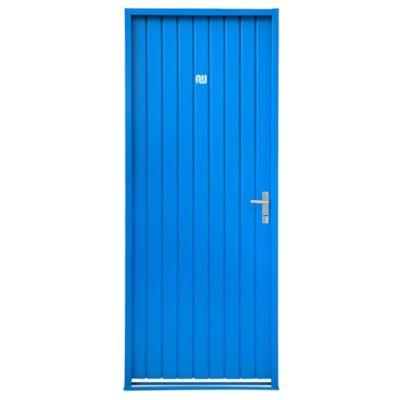 Puerta ciega de chapa simple derecha 82 x 208 cm
