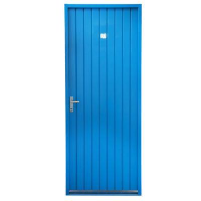 Puerta ciega de chapa simple izquierda 82 x 208 cm