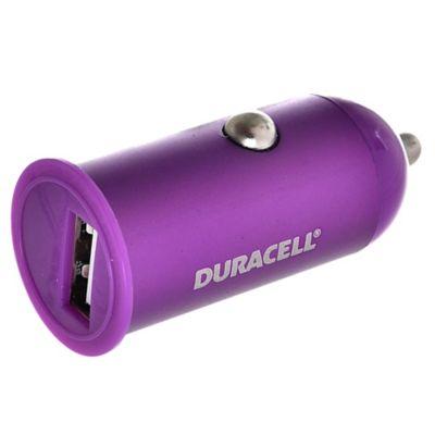 Cargador USB para auto 1 A violeta