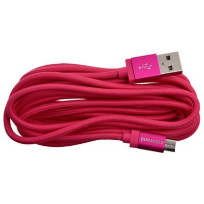 Cable micro USB 3 m rosa