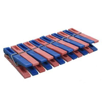 Pack de 12 palillos plásticos para ropa
