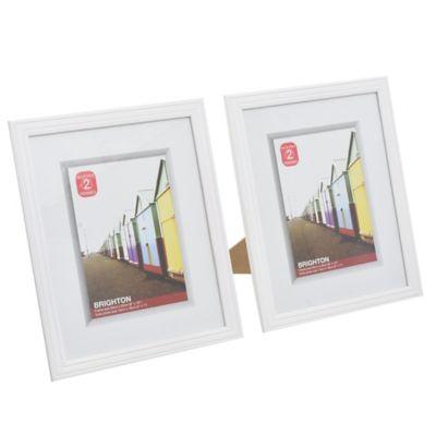 2 Portarretratos Brighton blanco 28,5 x 23,5 cm