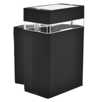 Aplique exterior cuadrado unidireccional negro GU10