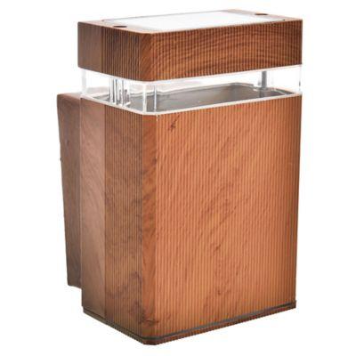 Aplique exterior cuadrado unidireccional madera GU10