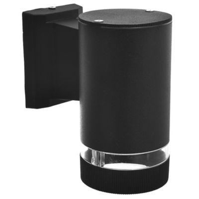 Aplique exterior cilindro unidireccional negro GU10