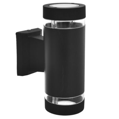 Aplique exterior cilindro bidireccional negro 2x GU10