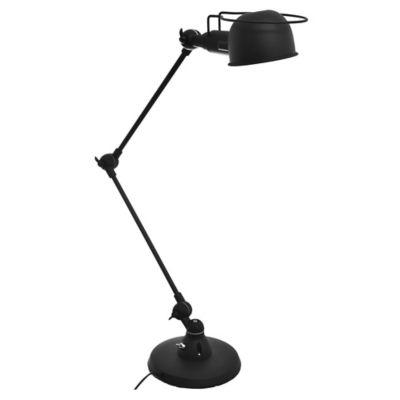 Lámpara de escritorio negro profundo 1 luz E14