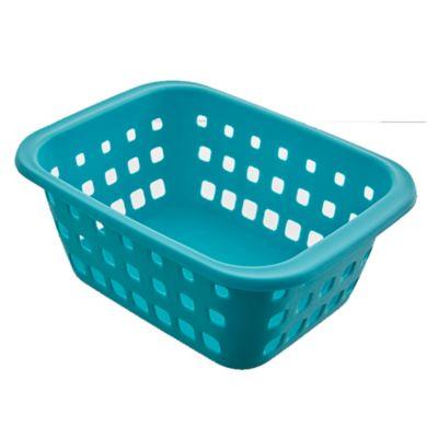 Canasto organizador de plástico verde agua 1,4 L