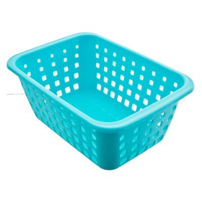 Canasto organizador de plástico grande aqua 5.2 L