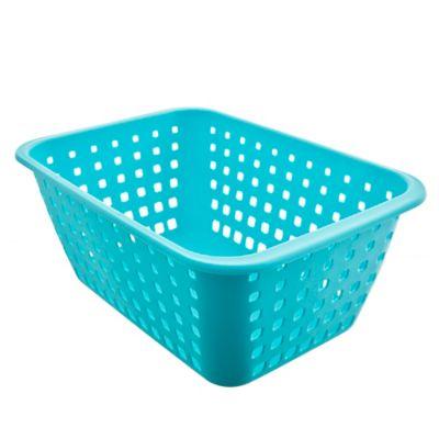 Canasto organizador de plástico verde agua 13,8 L