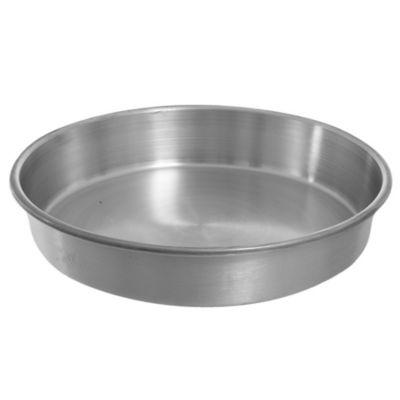 Asadera redonda baja de aluminio 25 x 4,5 cm