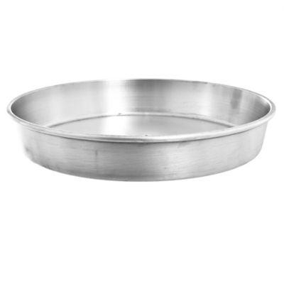 Asadera redonda baja de aluminio 30 x 5 cm