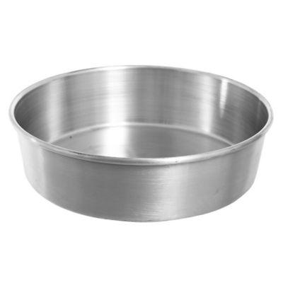 Asadera redonda alta de aluminio 25 x 7 cm