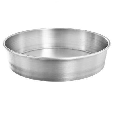 Asadera redonda alta de aluminio 30 x 7,5 cm