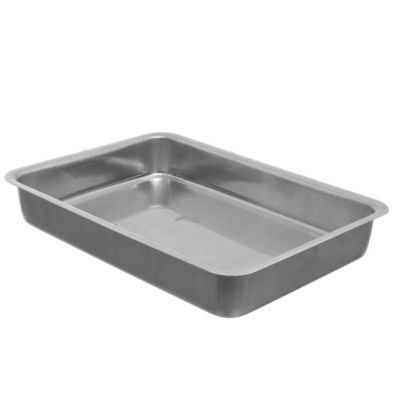 Asadera rectangular alta de aluminio 33 x 24 x 5 cm