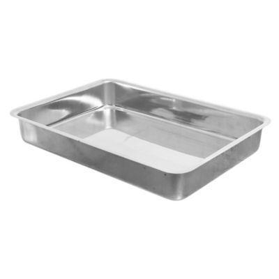 Asadera rectangular alta de aluminio 37 x 26 x 5 cm